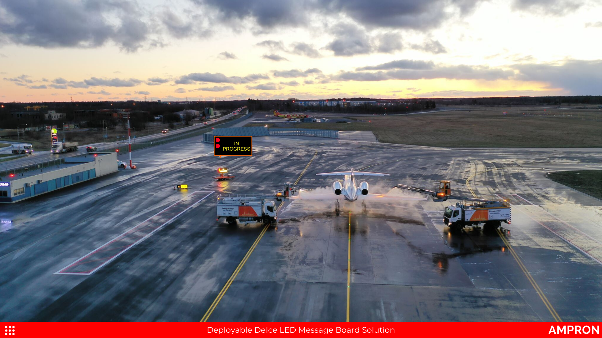 Deployable DeIce LED Message Board Solution at Tallinn Airport