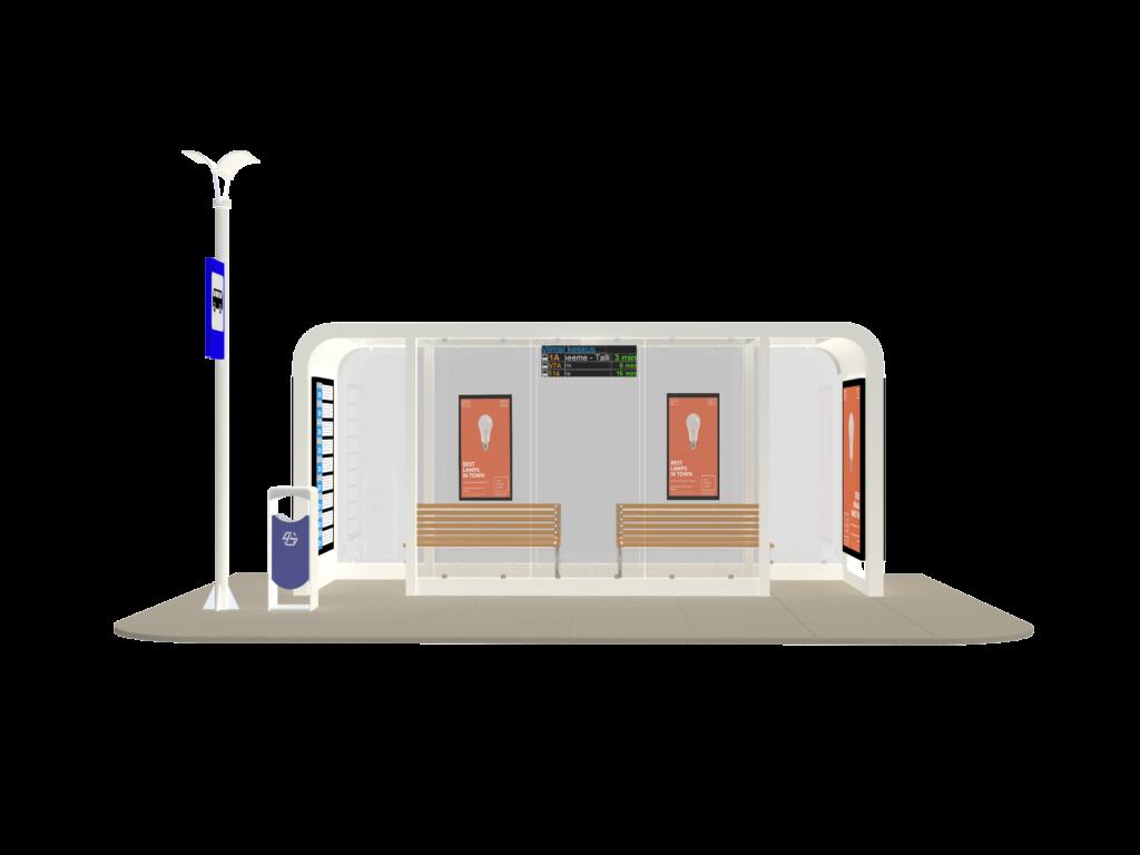 Ampron Smart City Bus Shelter Solution