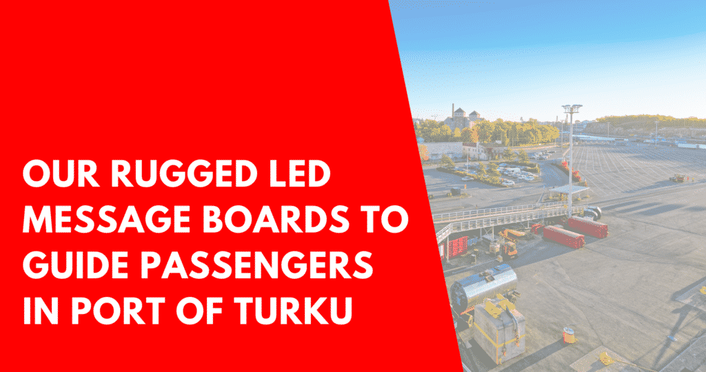 Rugged LED guidance message boards