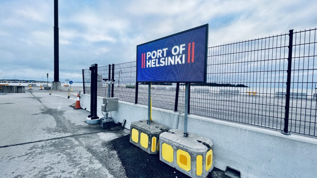 Last Mile LED Digital Wayfinding improvement at Port of Helsinki in Finland