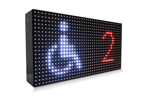 Ampron LED message boards for parking