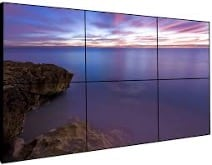 "5.4 VIDEO WALL type LCD/TFT type displays (bezel 3,5 mm) 2x3x55"""